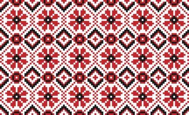 Traditional national embroidered pattern