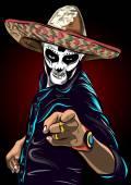 Fotografie Tag der Toten Zucker Schädel Mann Vektor. Mexikanische Schädel. Dia de Los Muertos. EPS10 Abbildung