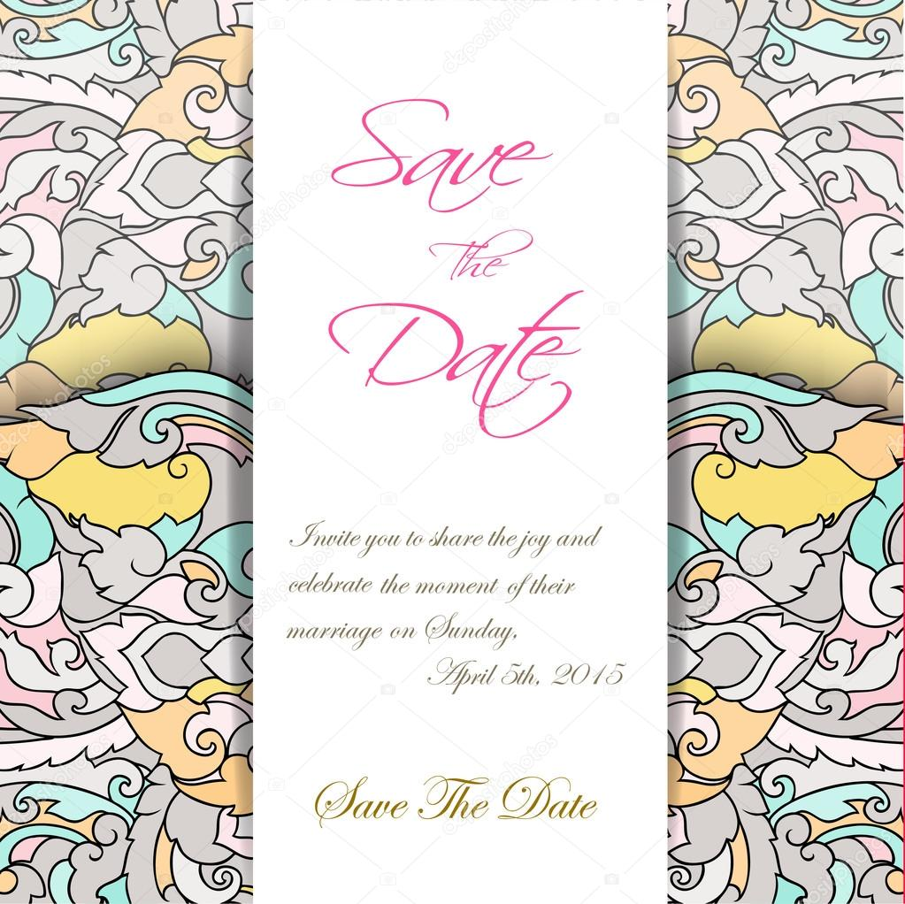 Wedding invitation card suite with thai ornament templates vector wedding invitation card suite with thai ornament templates vector eps vetor de alisared835 stopboris Image collections
