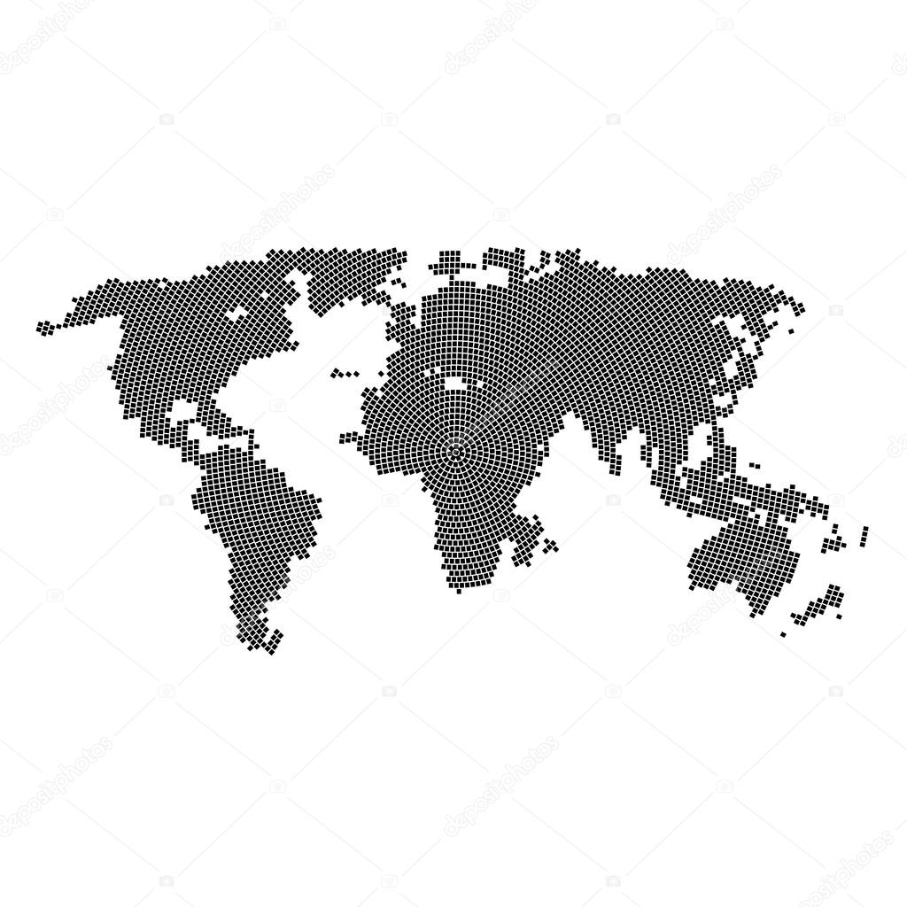 Vector halftone world map continents for your design stock vector halftone world map continents for your design stock vector gumiabroncs Images