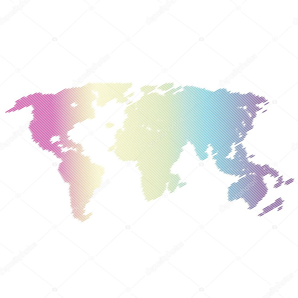 Vector halftone world map continents for your design stock vector halftone world map continents for your design stock vector gumiabroncs Image collections