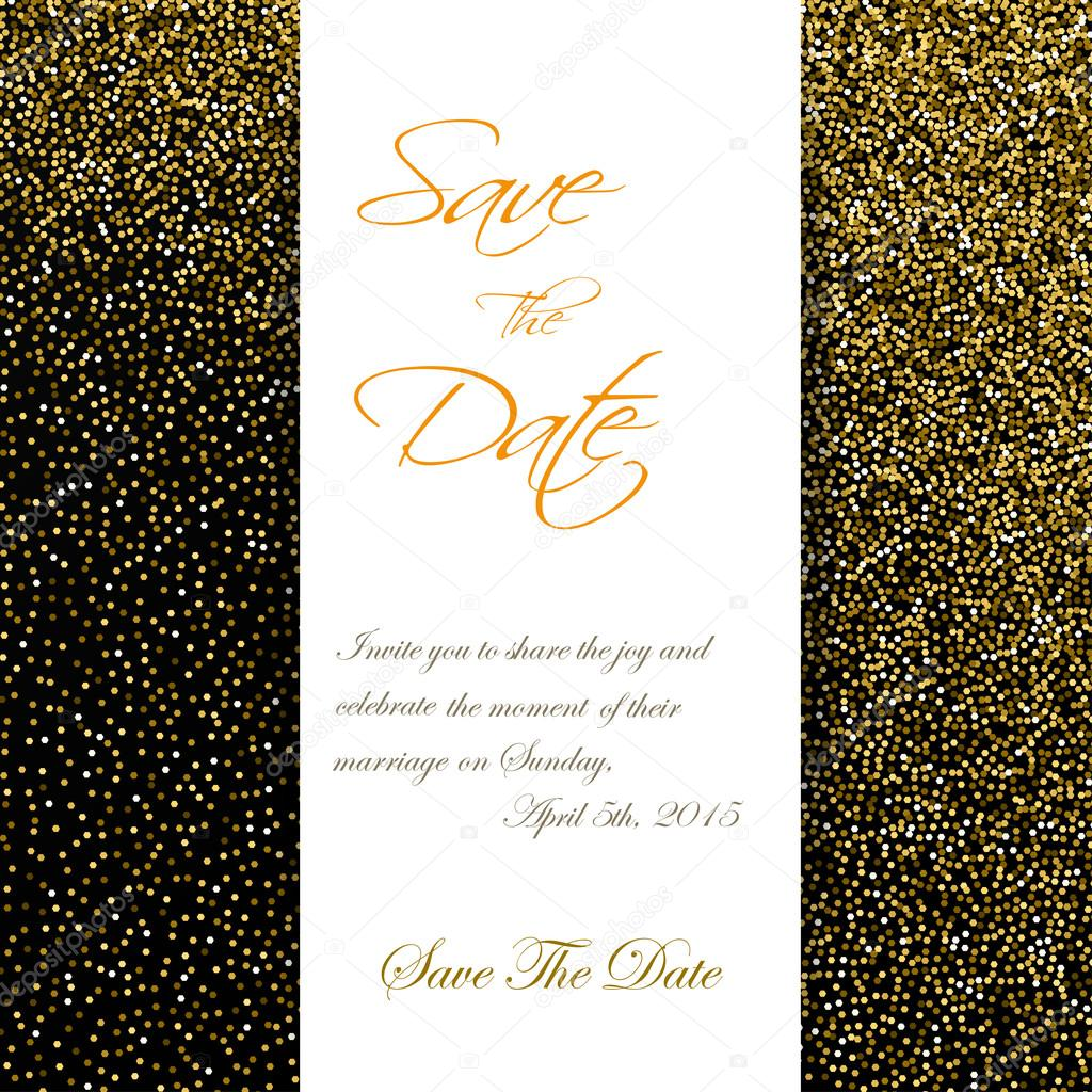 Cute cards with gold confetti glitter perfect for valentines day cute cards with gold confetti glitter perfect for valentines day birthday save the date invitation vector eps vector by alisared835 stopboris Images