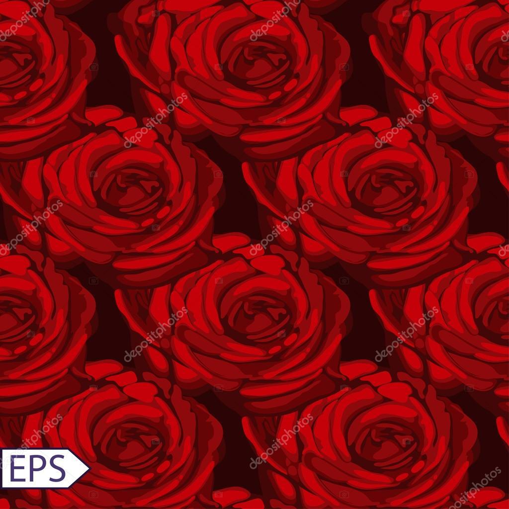 seamless vintage rose flower pattern vector