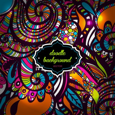 Multicolor Pattern Doodles- Decorative Sketchy Notebook Design- Hand-Drawn Vector Illustration Background