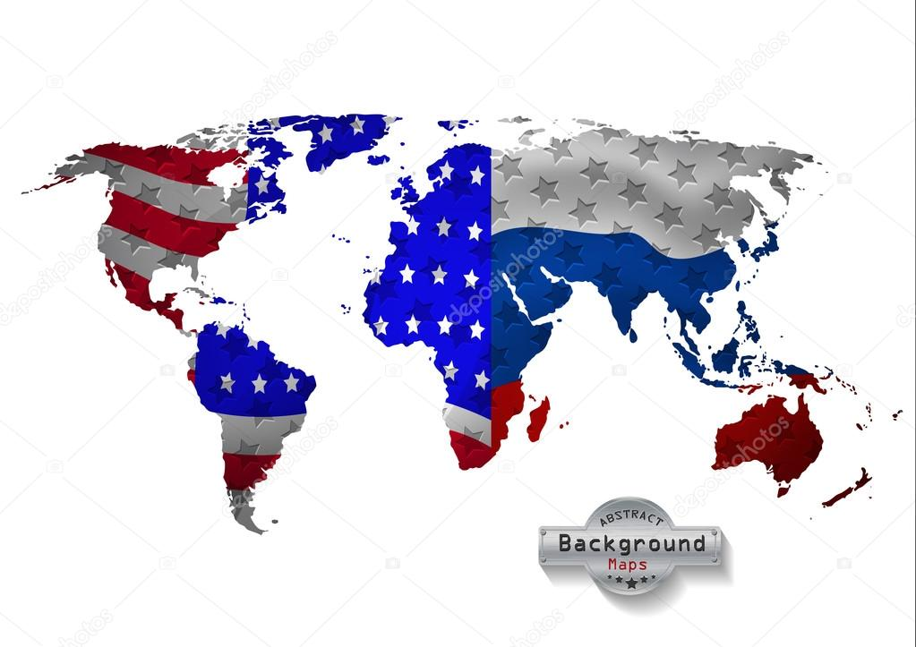 The world map usa with russia and all states vector stock vector the world map usa with russia and all states vector stock vector gumiabroncs Choice Image