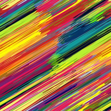 Seamless rainbow diagonal stripes color line art vector background.