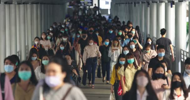 September 25, 2020. Bangkok, Thailand. Crowded Asian People Wearing Protective Mask For Protect Coronavirus, Covid 19 Virus During Virus Outbreak In Bangkok Thailand.