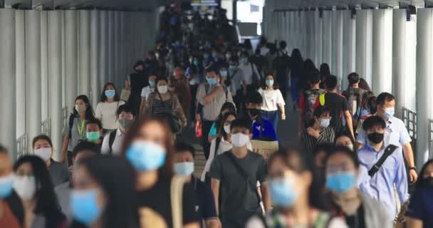 September 25, 2020. Bangkok, Thailand. Crowded Asian People Wearing Protective Mask For Protect Coronavirus, Covid 19 Virus During Virus Outbreak In Bangkok Thailand.