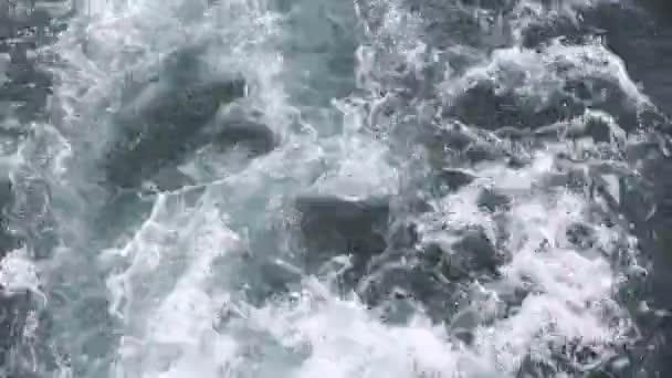 Hakone jezero s rychle jachtě člun probuzení pěna mytí vrtule