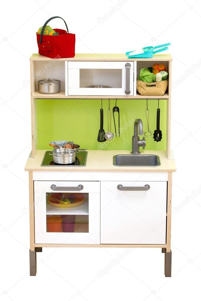 Cocina juguete set aislar sobre fondo blanco — Foto de stock ...