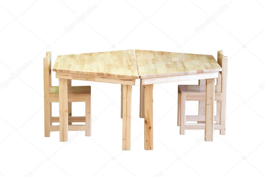 Mooie en comfortabele houten kinderen stoel en tafel set u2014 stockfoto
