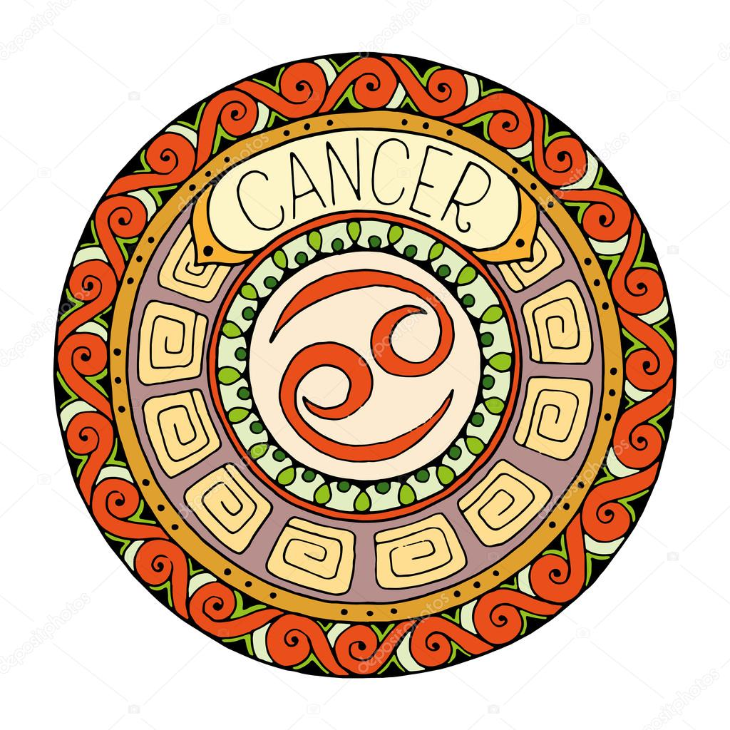 Mandala with cancer zodiac signhand drawn tribal mandala mandala with cancer zodiac signhand drawn tribal mandala horoscope symbol for tattoo art biocorpaavc Gallery