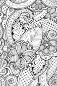 Photo Seamless pattern with flowers and butterfly. Ornate zentangle se