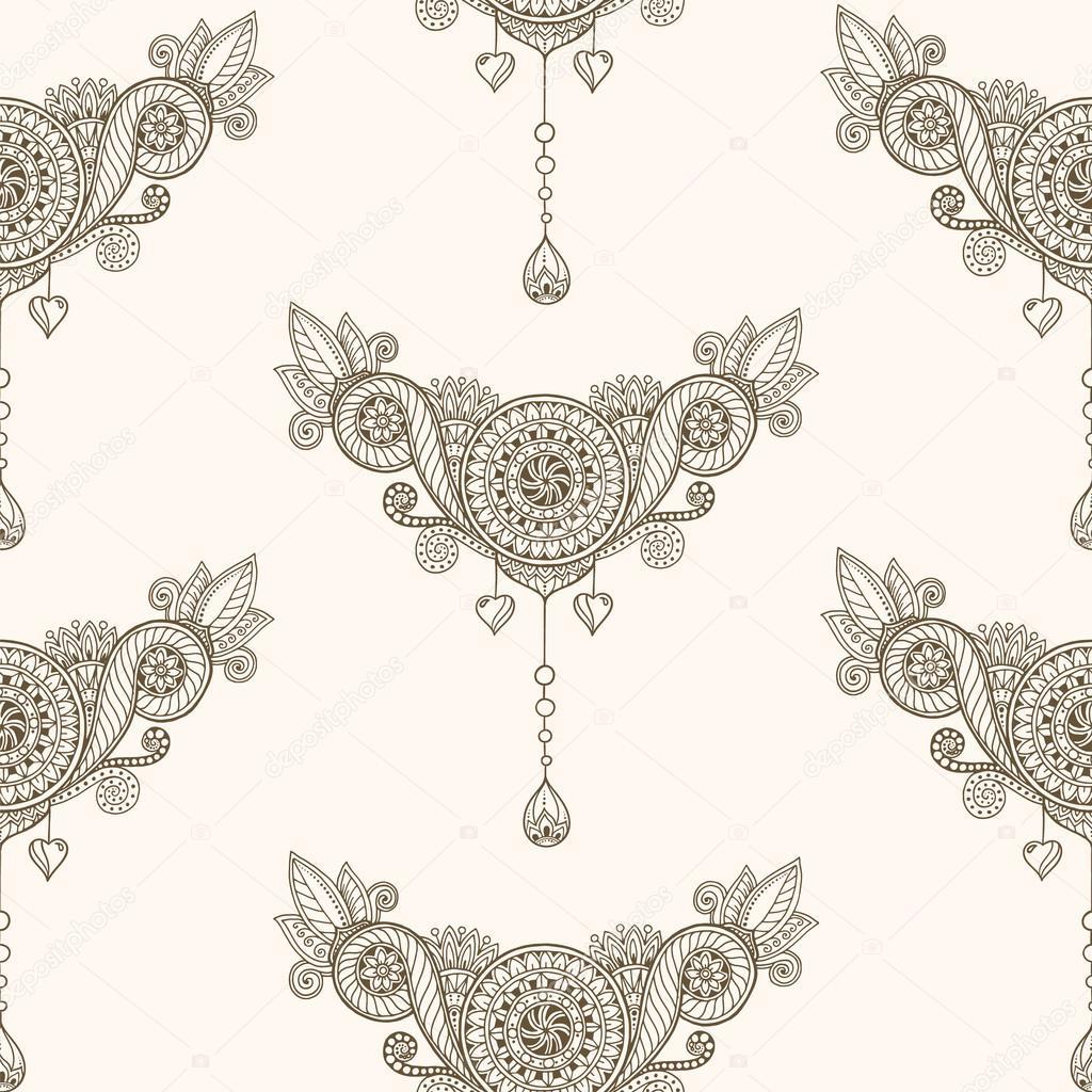 Ornamentales de patrones étnicos sin fisuras. Plantilla de diseño ...