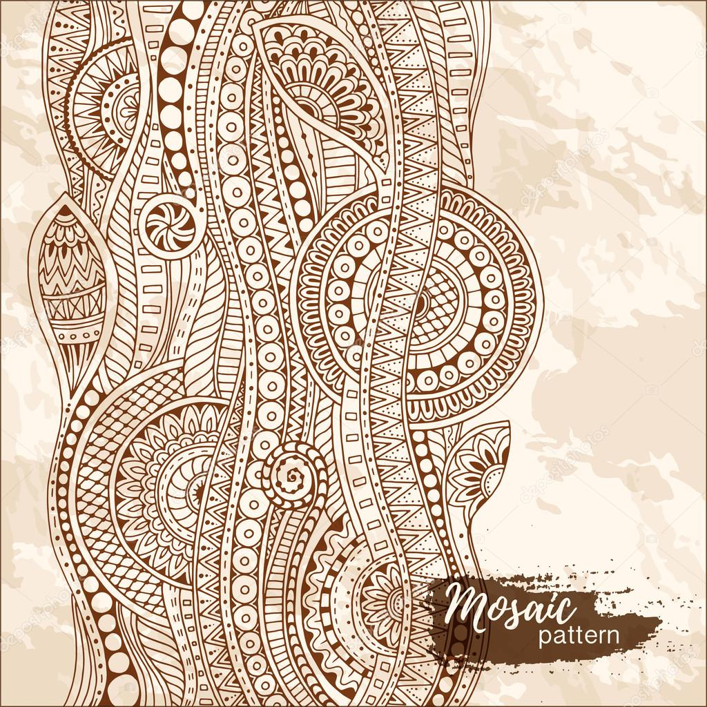 f1db8eb58b6b Hand drawn tribal ethnic pattern. Doodle grunge background with doodles