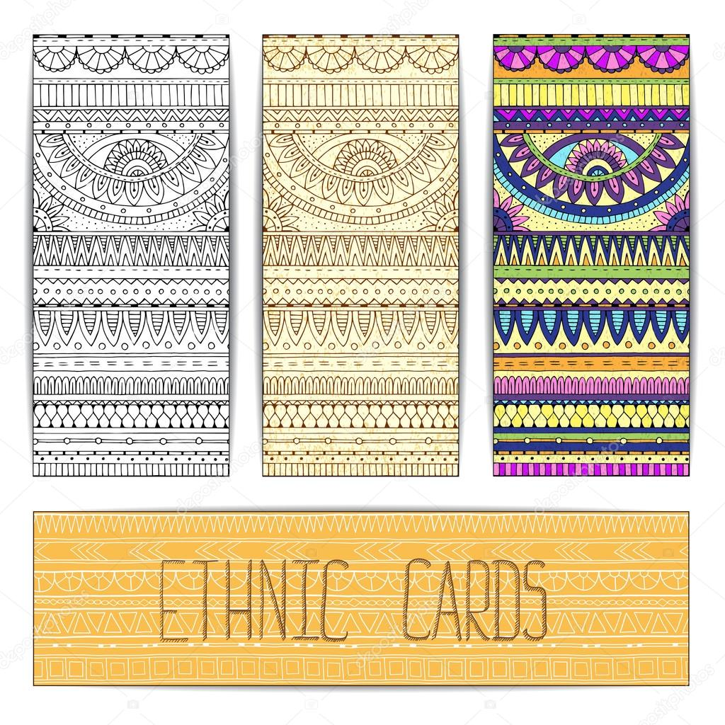 Tribal texture cards.