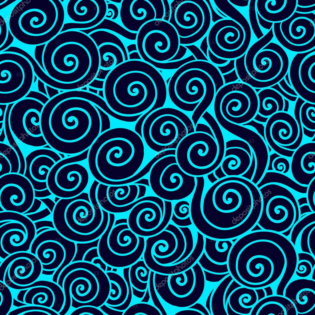Blue seamless wave pattern.