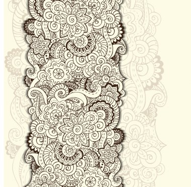 Abstract floral background pattern in vector.