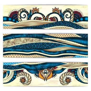 Paisley batik background. Ethnic african cards.