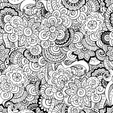 Seamless asian floral retro background pattern.