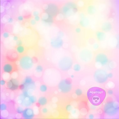 Vector illustration of soft colored abstract background. Elegant abstract background with bokeh lights and stars.  Holiday Abstract Glitter Defocused Background With Blinking Stars. Blurred Bokeh.