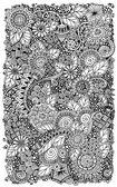 Fotografie Etnické květinový retro zentangle doodle pozadí vzorek kruh ve vektoru