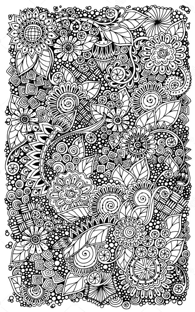 Click Zoom To Get A Direct Link The Best Photo By Query Zentangle Design For Jumping Horse Coloring Book Ethnic Floral Retro Doodle