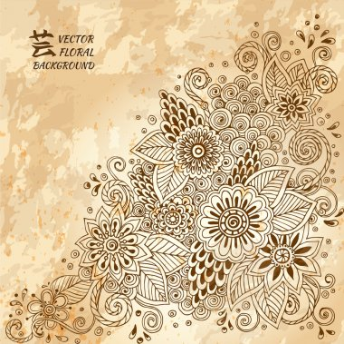 Template posters with doodle flowers and paisley for your business. Vector abstract grunge background for invitations, business documents, cards, flyers and placards. Sale brochure stock vector