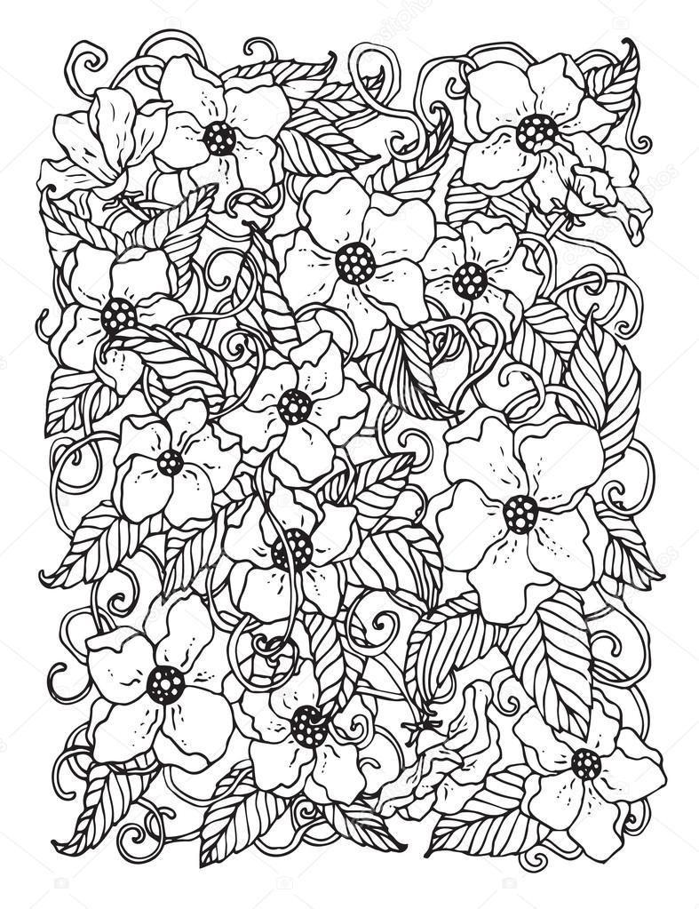 Kleurplaten Herfst Bloemen.Doodle Achtergrond In Vector Met Doodles Bloemen En Paisley Vector