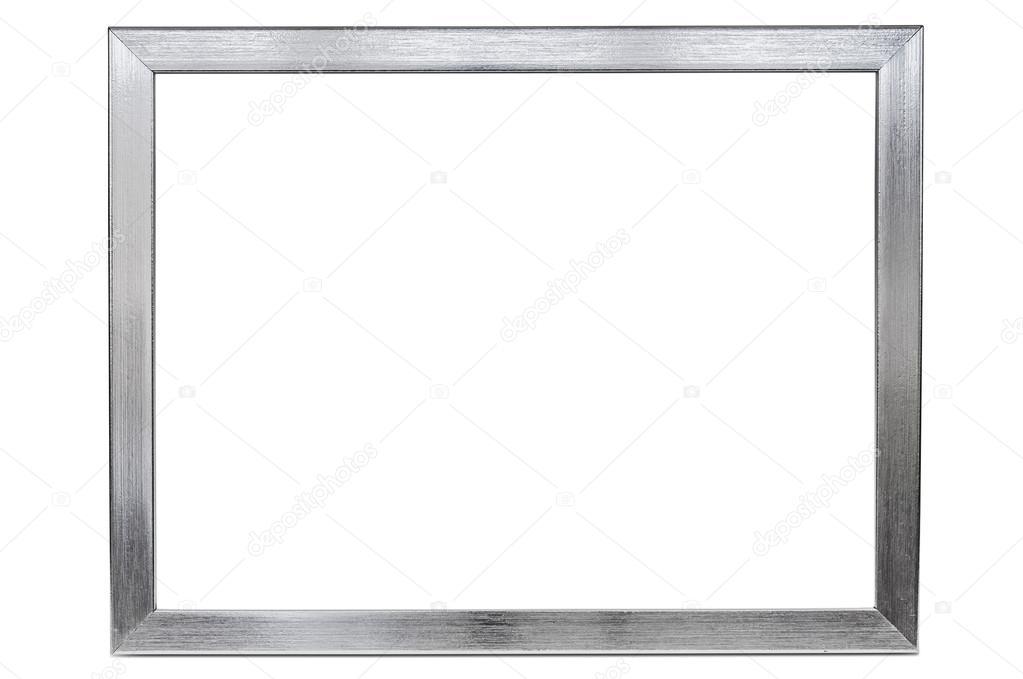 Marco de aluminio foto vacía sobre fondo blanco — Fotos de Stock ...