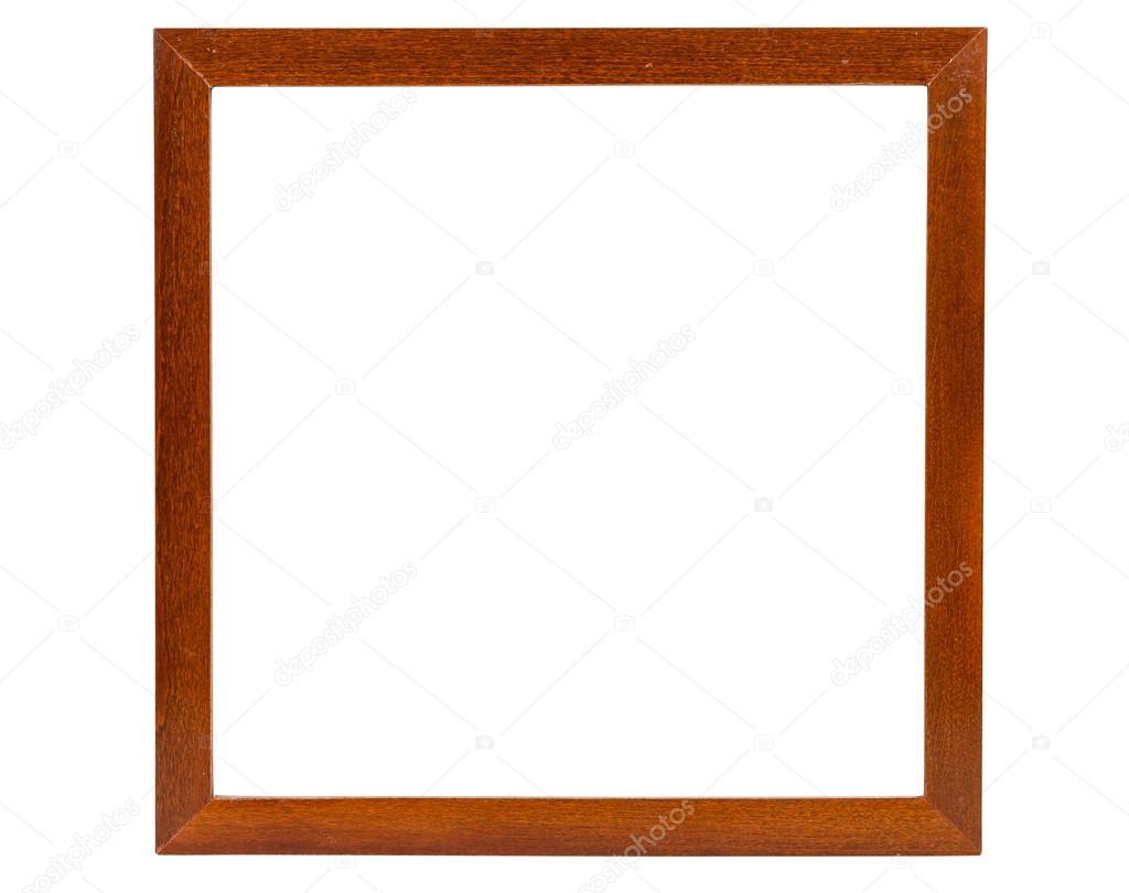 Dunkle Quadrat aus Holz Bilderrahmen — Stockfoto © mkos83 #75364505