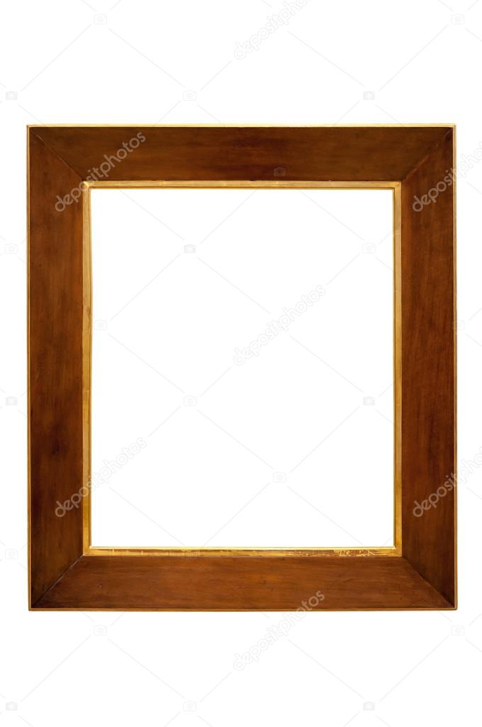 Marco de madera oscura sobre fondo blanco — Fotos de Stock © mkos83 ...