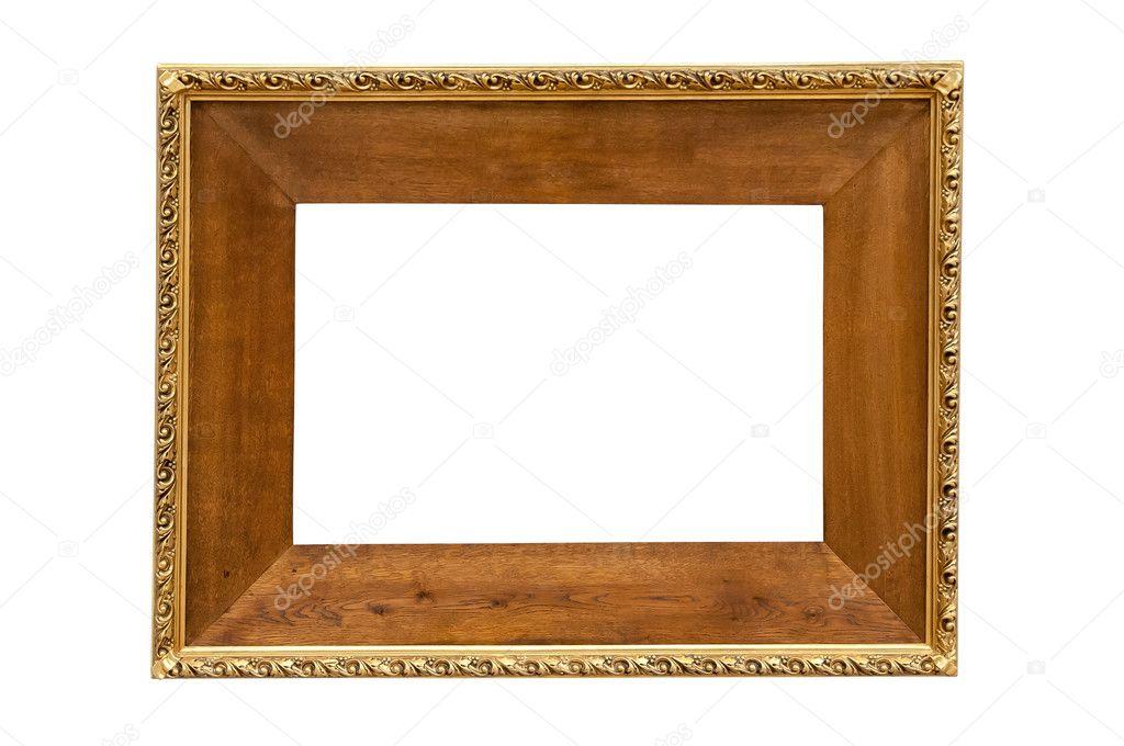 Marco de madera oscura sobre fondo blanco — Foto de stock © mkos83 ...