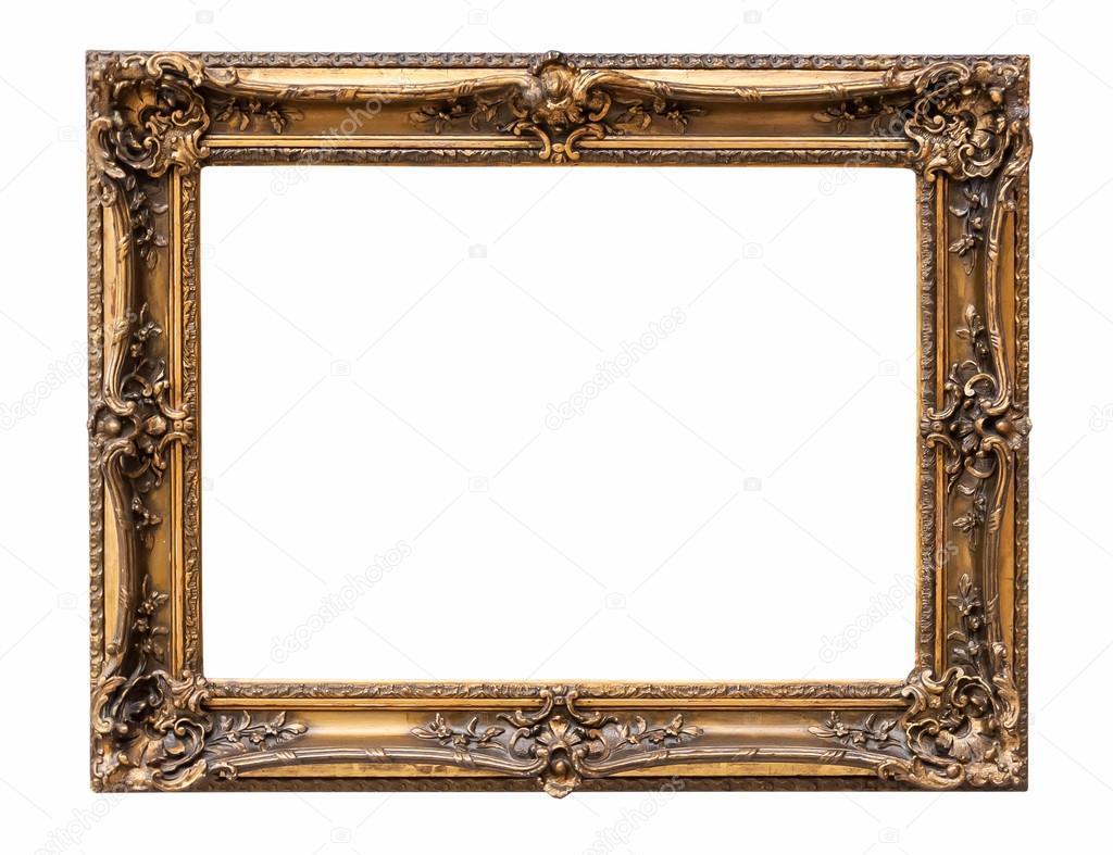 Marco de cuadro decorativo bronce rectangular — Foto de stock ...