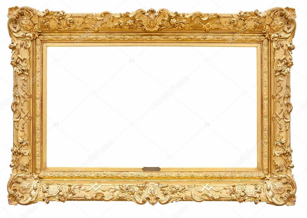 Marco de cuadro decorativo de oro del rectángulo — Fotos de Stock ...