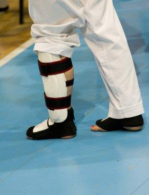 Taekwondo safety equipment for leg