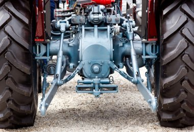 Rear view of tractor