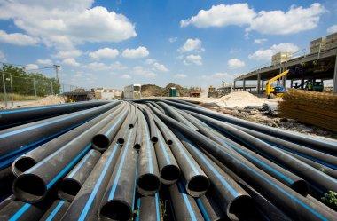 PVC pipes ar building site