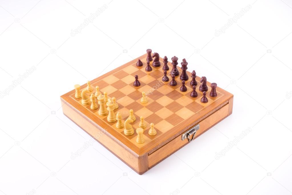 Sicilian gambit on chess board — Stock Photo © budabar #84611598