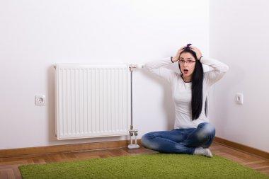 Panic emotion because of cold radiator