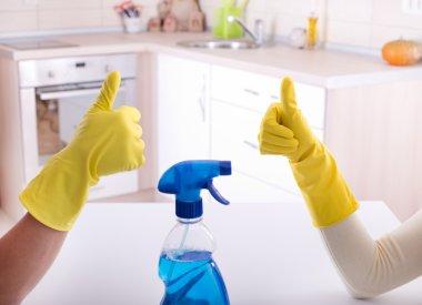 Cleaning stuff teamwork
