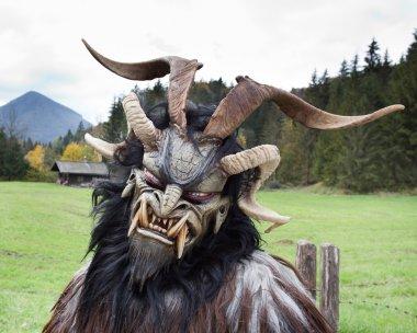 Alpine traditional Krampus mask