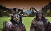 Fényképek Hagyományos alpesi Krampusz maszkok