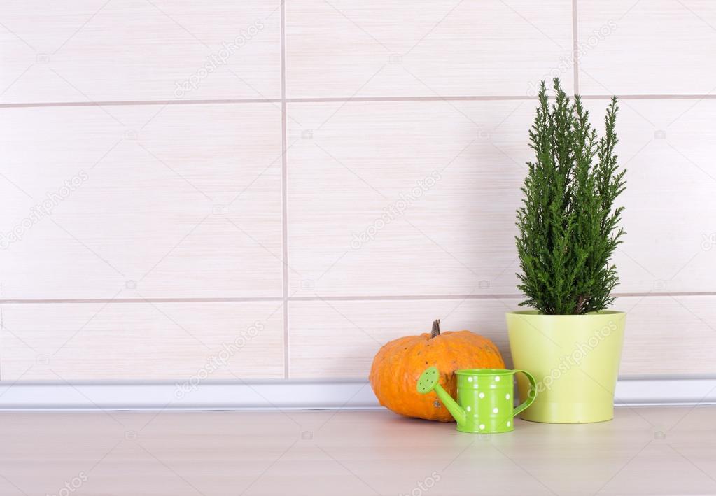 Keuken decoratie op het aanrecht u stockfoto budabar