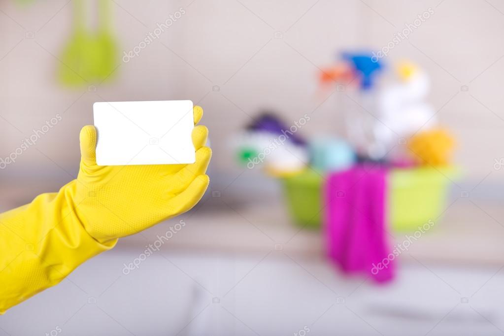 tarjeta de presentación servicio de limpieza foto de stock