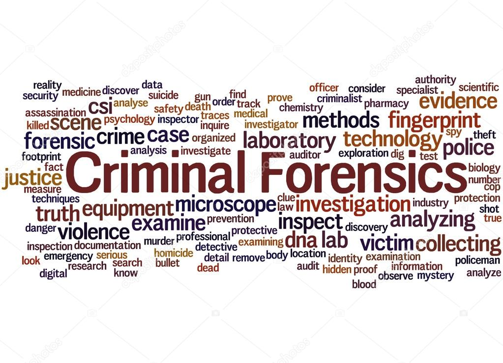 criminal forensics word cloud concept 4 stock photo 100863024 criminal research specialist - Criminal Research Specialist
