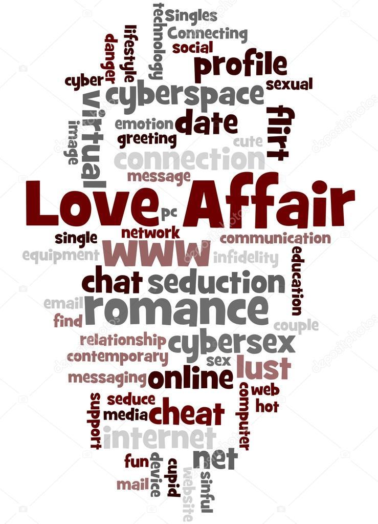 Love Affair Word Cloud Concept  Stock Photo