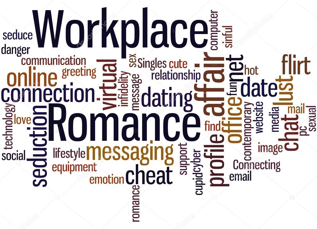 workplace romance word cloud concept 9 stock photo kataklinger