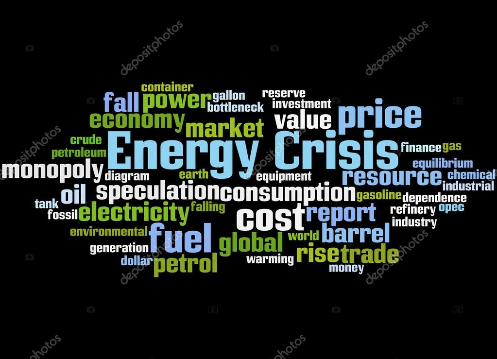 Energy crisis, word cloud concept 5 — Stock Photo