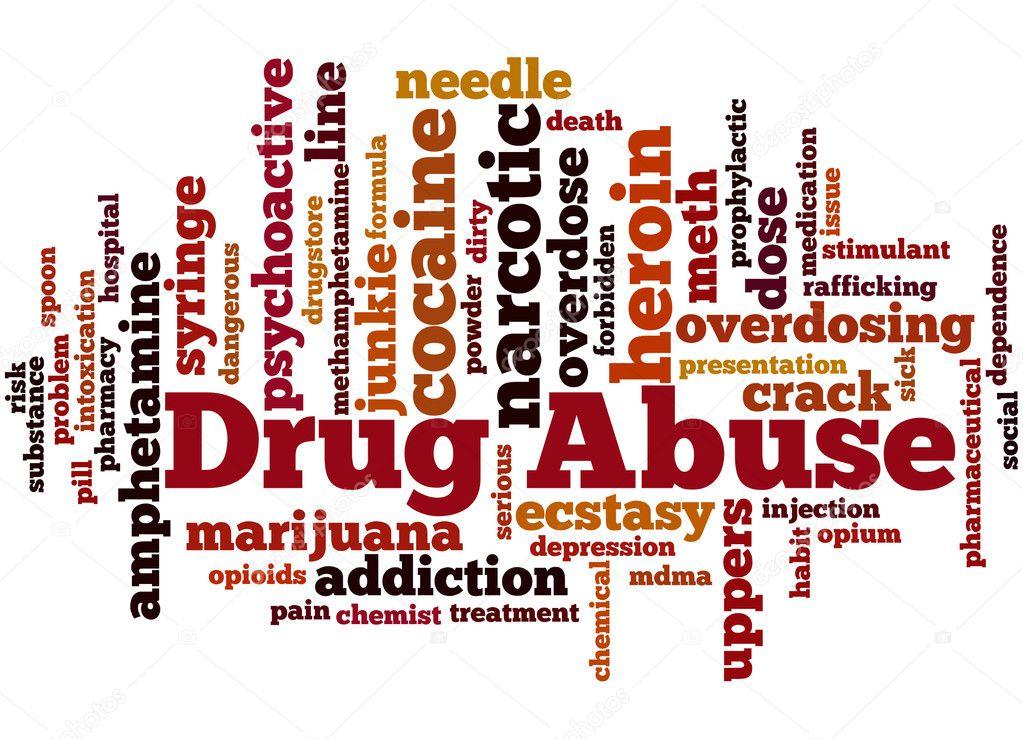 drug abuse  word cloud concept 3  u2014 stock photo